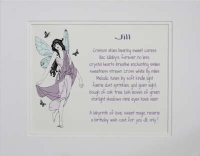 Birthday Girl poetry gift #0a