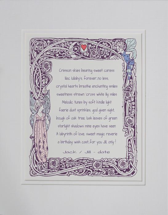 Birthday poetry gift #0b