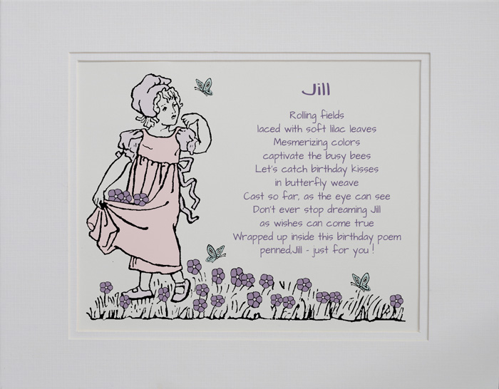 Birthday Girl poetry gift #1