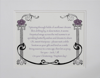 Christening/Baptism poetry gift #12a