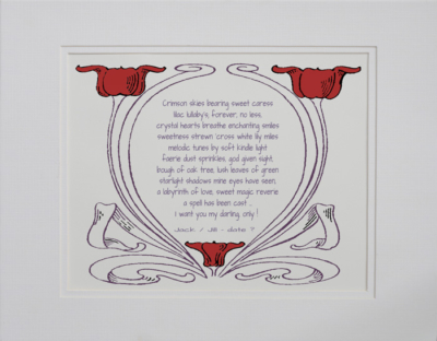 Engagement poetry gift #21a