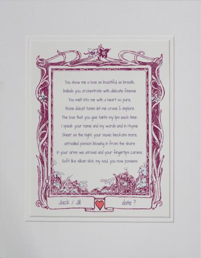 Anniversary day poetry gift #24b