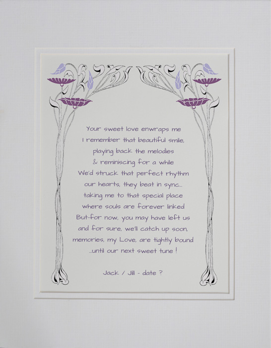 In Sympathy poetry gift #30