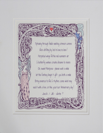 Anniversary day poetry gift #43b