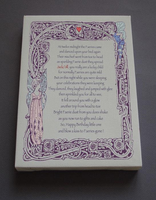 Happy Birthday Gift Personalized Poetry Poem #C0b