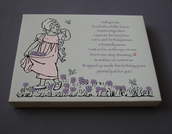 Birthday Girl Gift Personalized Poetry Poem #C1