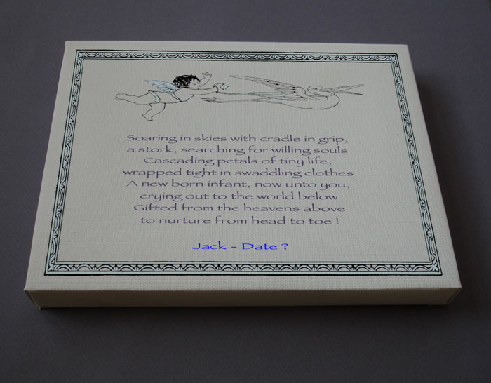 Baby Boy Shower Gift Personalized Poetry Poem #C10a