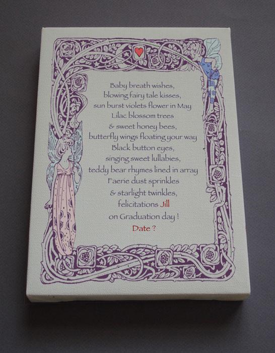 Graduation Gift Personalized Poetry Poem #C16