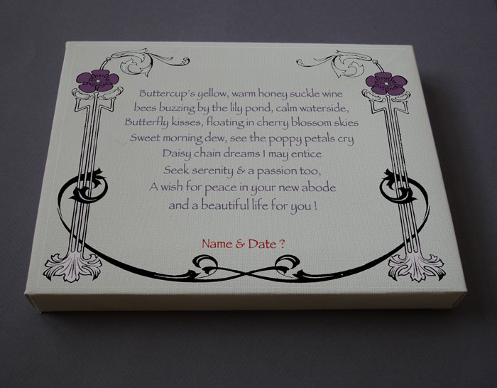 HouseWarming Gift Personalized Poetry Poem #C18