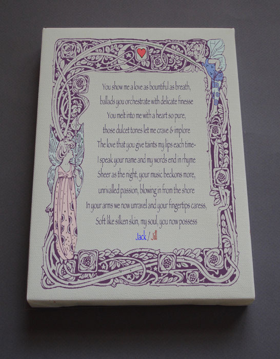 Wedding Gift Personalized Poetry Poem #C24