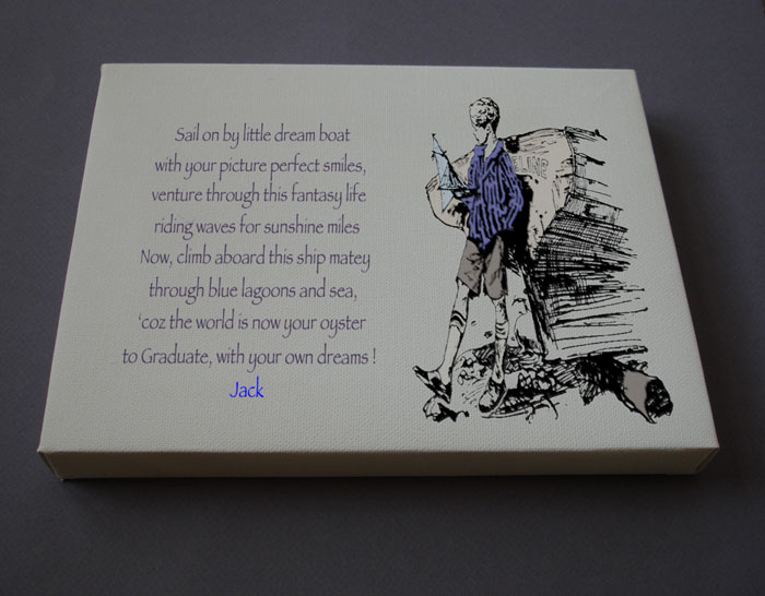 Graduation Boy Gift Personalized Poetry Poem #C2a
