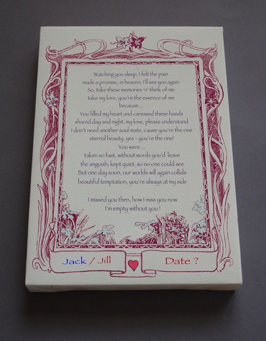 Sympathy Condolence Gift Personalized Poetry Poem #C34