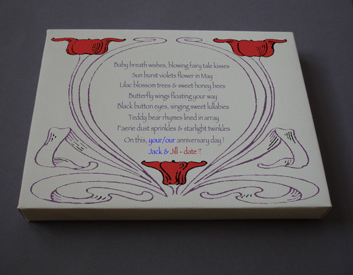 Anniversary Gift Personalized Poetry Poem #C42