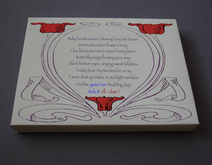 Wedding Gift Personalized Poetry Poem #C42a