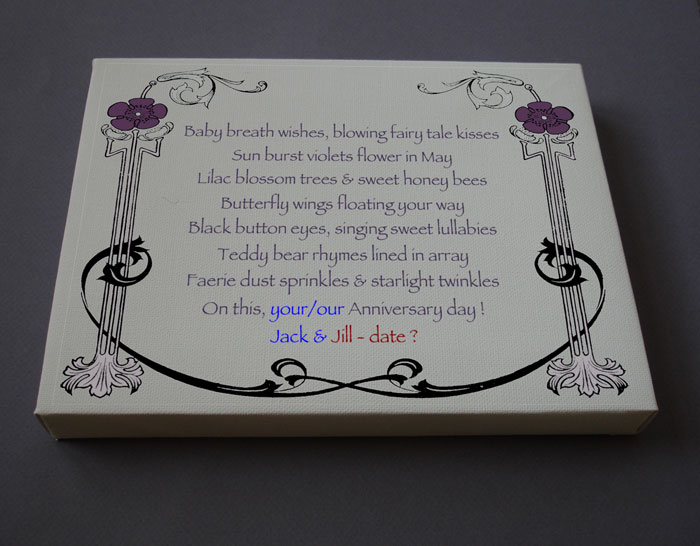 Anniversary Gift Personalized Poetry Poem #C42b