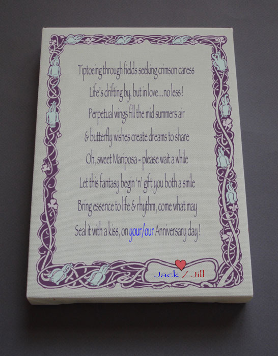 Anniversary Gift Personalized Poetry Poem #C43
