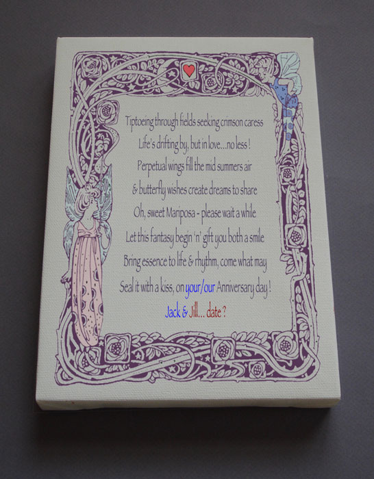 Anniversary Gift Personalized Poetry Poem #C43b