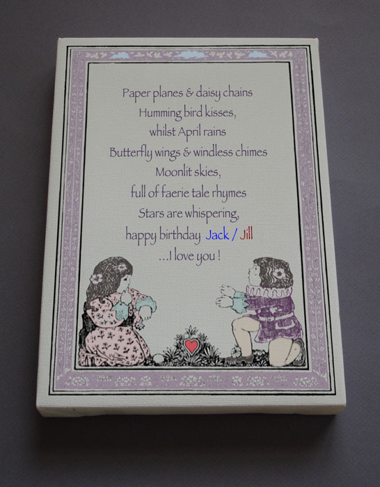 Birthday Gift Personalized Poetry Poem #C5b