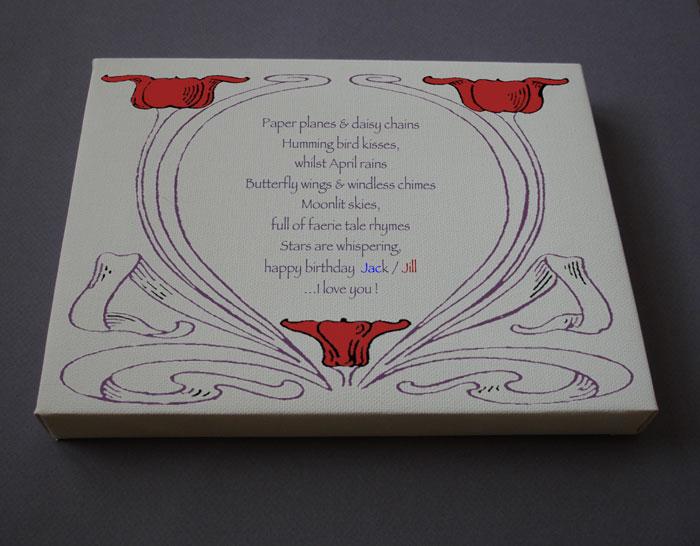 Happy Birthday Gift Personalized Poetry Poem #C5c