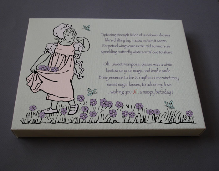 Children's Birthday Gift Personalized Poetry Poem #C6