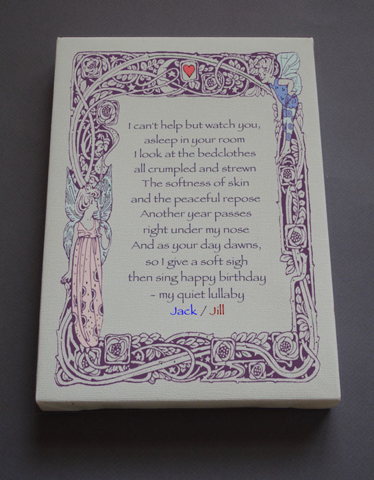 Birthday Children's Gift Personalized Poetry Poem #C7